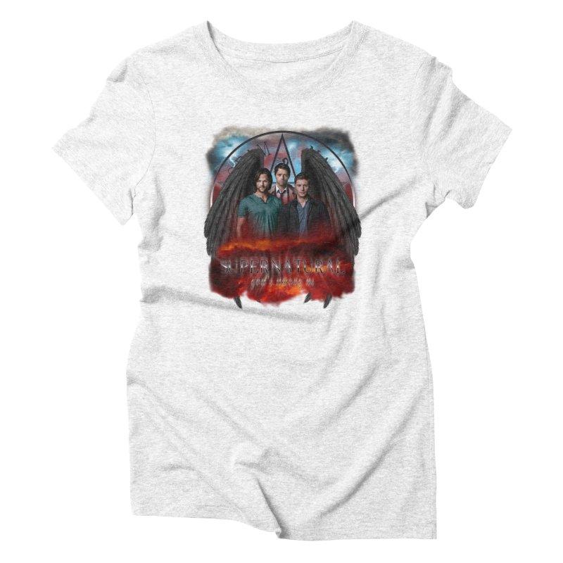 Supernatural Gods Among Us Women's Triblend T-shirt by ratherkool's Artist Shop