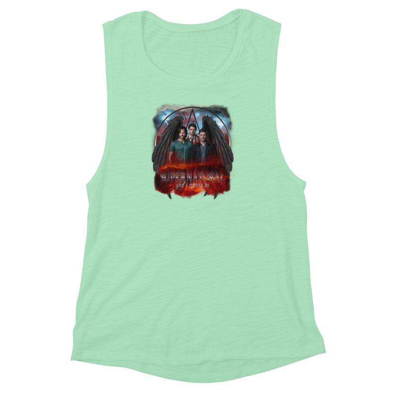 Supernatural Gods Among Us Women's Muscle Tank by ratherkool's Artist Shop