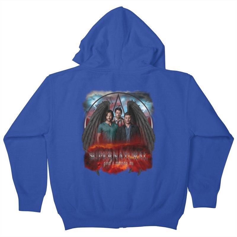 Supernatural Gods Among Us Kids Zip-Up Hoody by ratherkool's Artist Shop