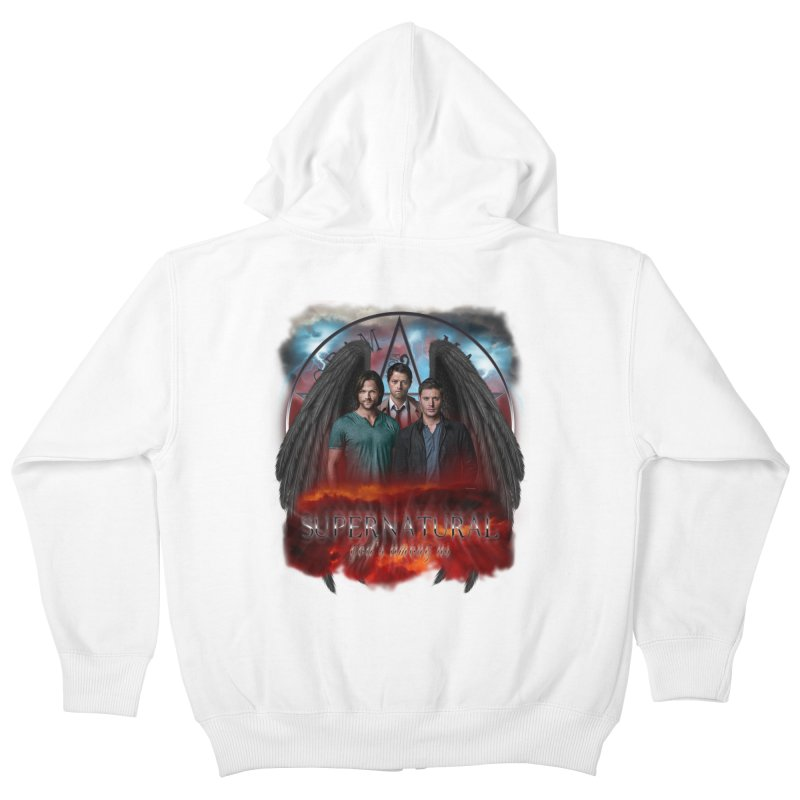 Supernatural Gods Among Us Kids Zip-Up Hoody by ratherkool's Artist Shop