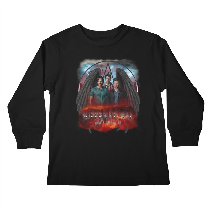 Supernatural Gods Among Us Kids Longsleeve T-Shirt by ratherkool's Artist Shop