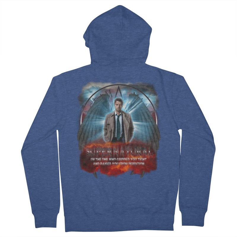 Supernatural Castiel  Men's Zip-Up Hoody by ratherkool's Artist Shop