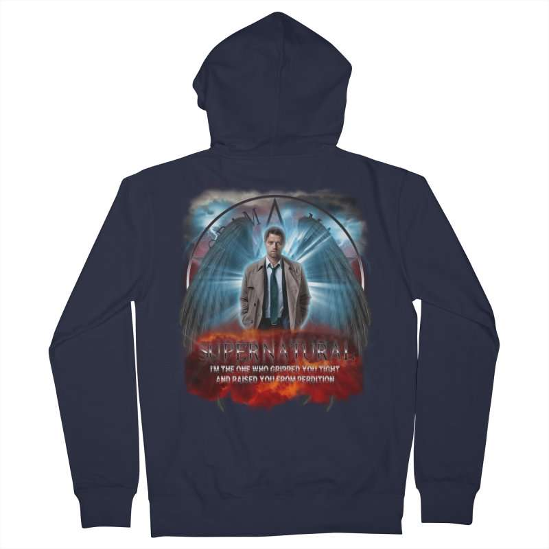 Supernatural Castiel  Men's Zip-Up Hoody by ratherkool's Artist Shop