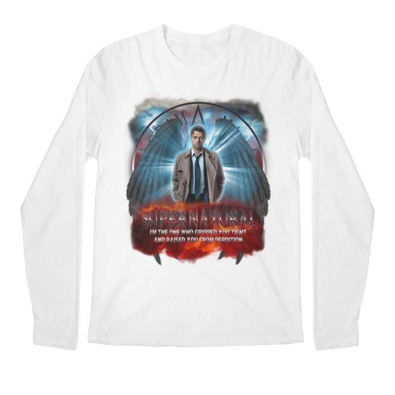 Supernatural Castiel  Men's Longsleeve T-Shirt by ratherkool's Artist Shop