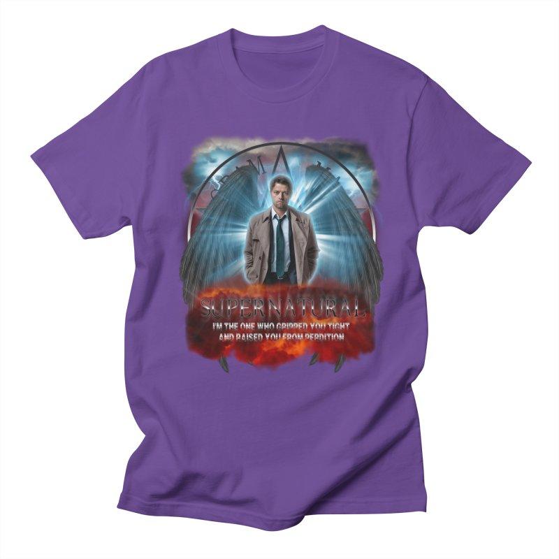 Supernatural Castiel  Men's T-shirt by ratherkool's Artist Shop