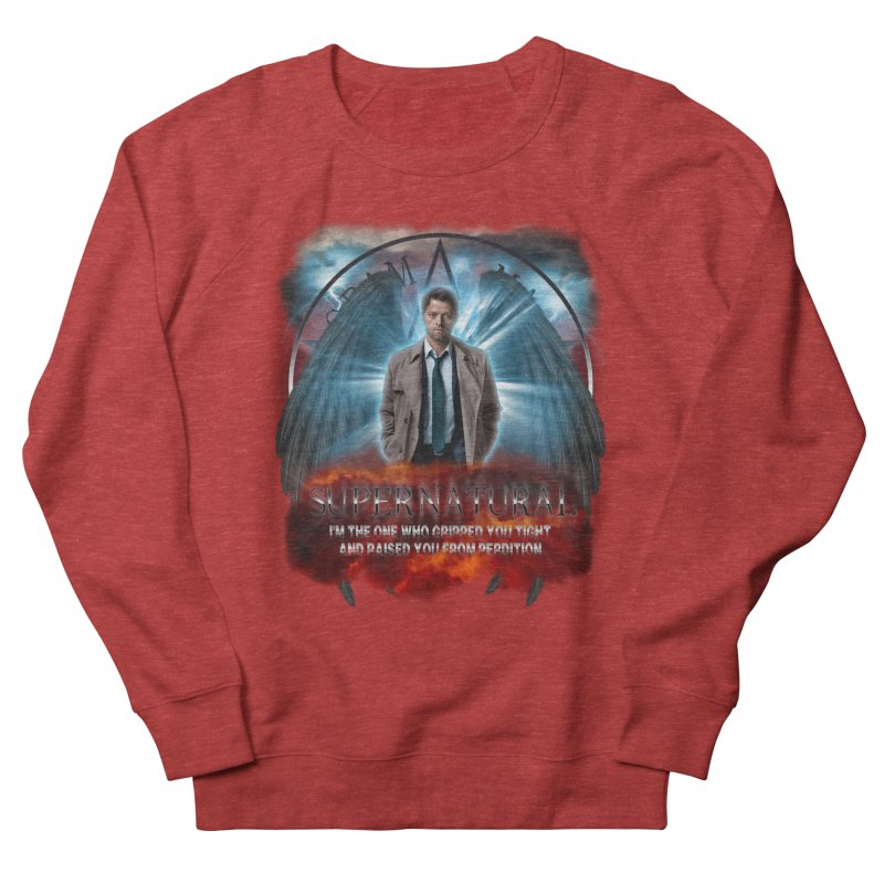 Supernatural Castiel  Men's Sweatshirt by ratherkool's Artist Shop