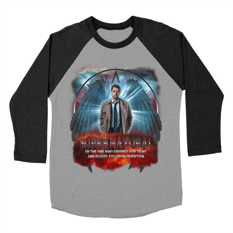 Supernatural Castiel  Women's Baseball Triblend T-Shirt by ratherkool's Artist Shop