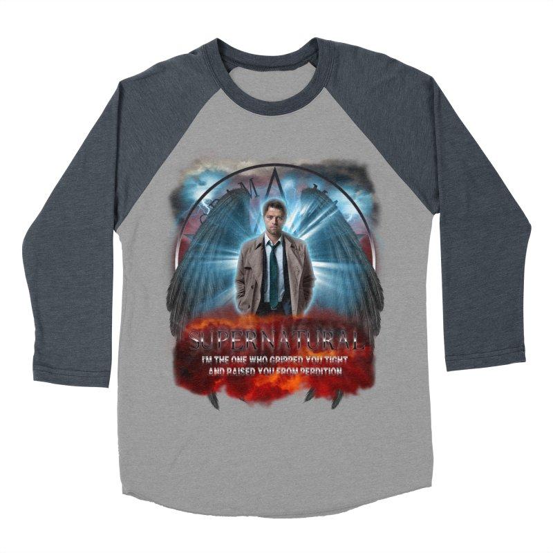 Supernatural Castiel  Men's Baseball Triblend T-Shirt by ratherkool's Artist Shop