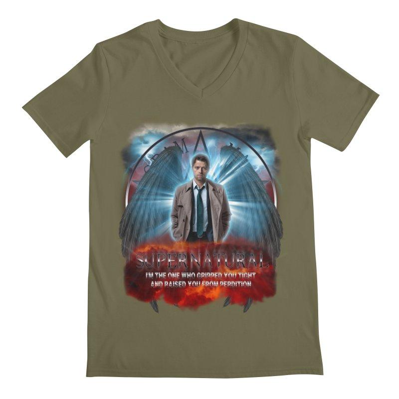 Supernatural Castiel  Men's V-Neck by ratherkool's Artist Shop