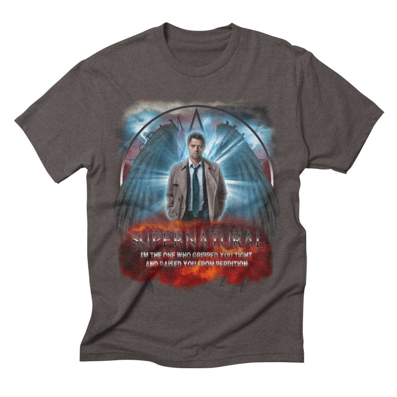 Supernatural Castiel  Men's Triblend T-shirt by ratherkool's Artist Shop