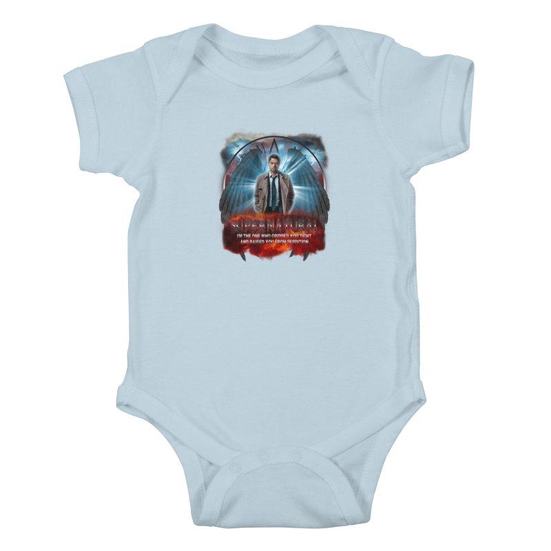 Supernatural Castiel  Kids Baby Bodysuit by ratherkool's Artist Shop