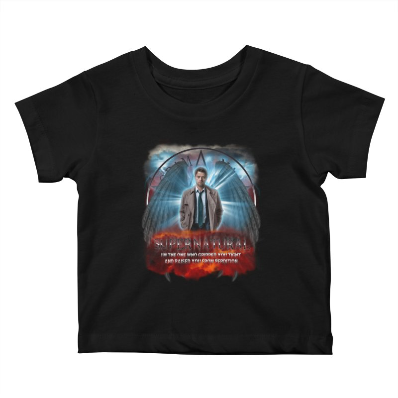 Supernatural Castiel  Kids Baby T-Shirt by ratherkool's Artist Shop