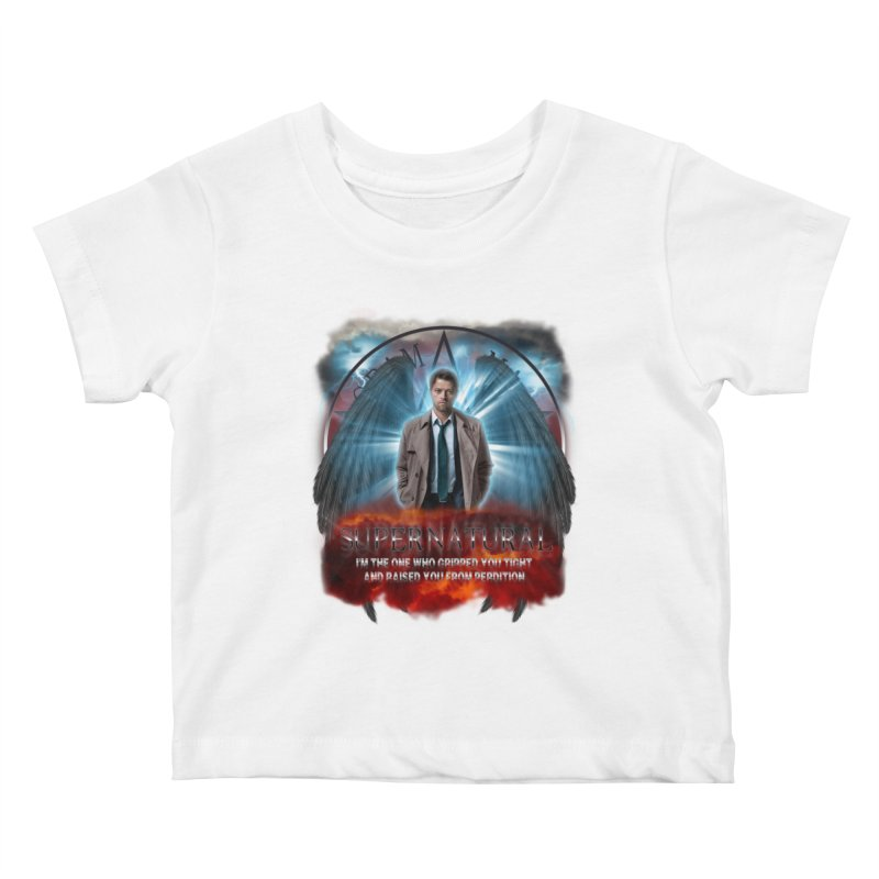 Supernatural Castiel  Kids Baby T-Shirt by ratherkool's Artist Shop