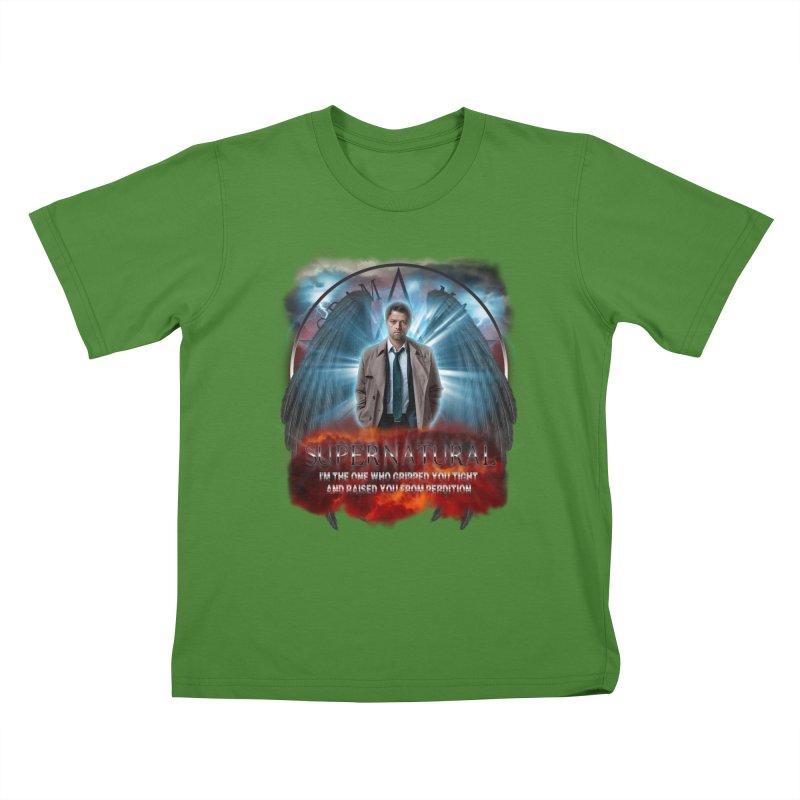 Supernatural Castiel  Kids T-shirt by ratherkool's Artist Shop