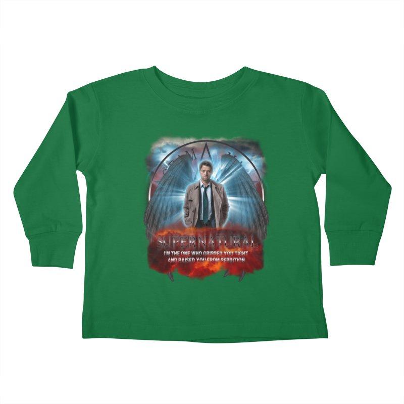Supernatural Castiel  Kids Toddler Longsleeve T-Shirt by ratherkool's Artist Shop