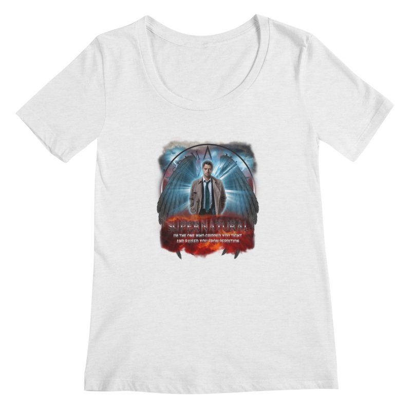 Supernatural Castiel  Women's Scoopneck by ratherkool's Artist Shop