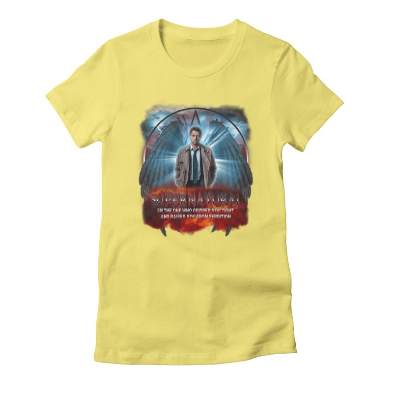 Supernatural Castiel  Women's Fitted T-Shirt by ratherkool's Artist Shop