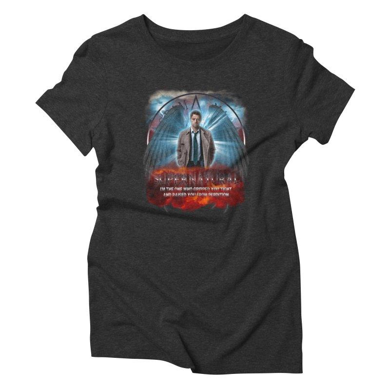 Supernatural Castiel  Women's Triblend T-shirt by ratherkool's Artist Shop