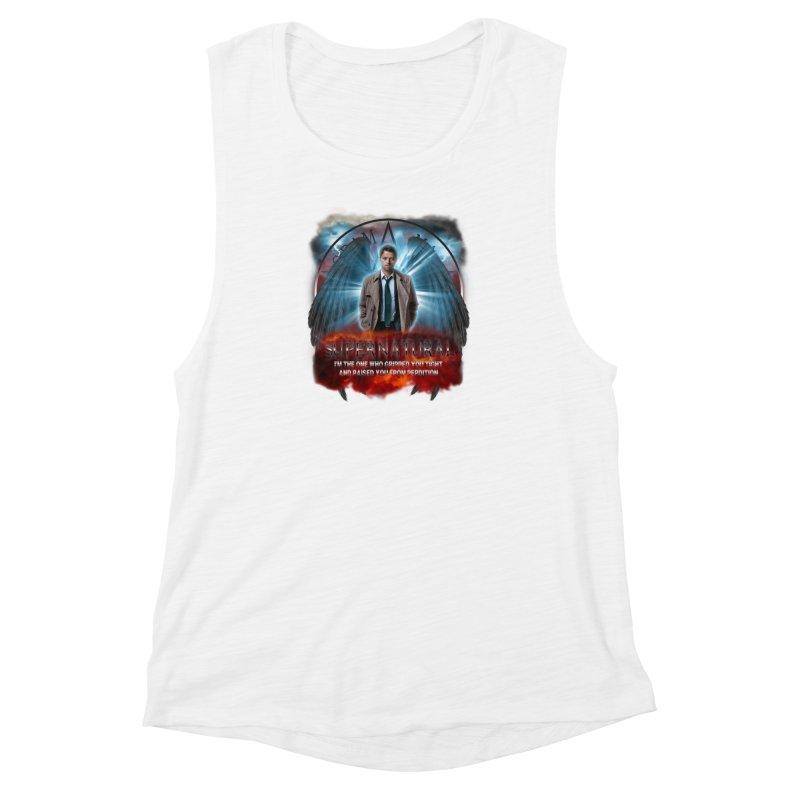 Supernatural Castiel  Women's Muscle Tank by ratherkool's Artist Shop