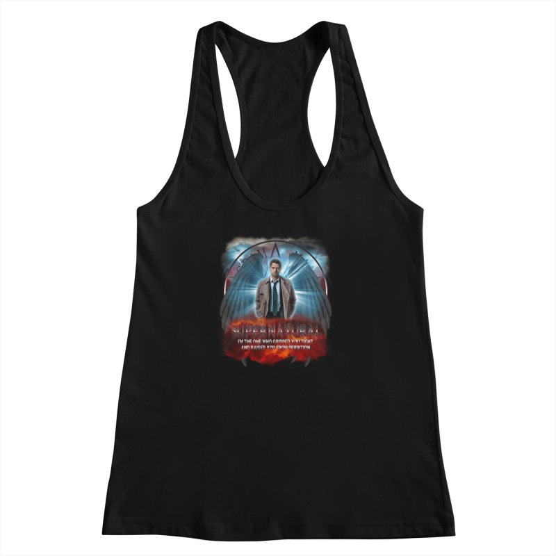 Supernatural Castiel  Women's Racerback Tank by ratherkool's Artist Shop