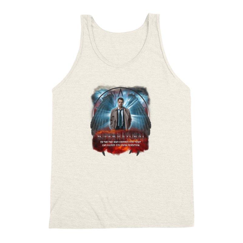 Supernatural Castiel  Men's Triblend Tank by ratherkool's Artist Shop