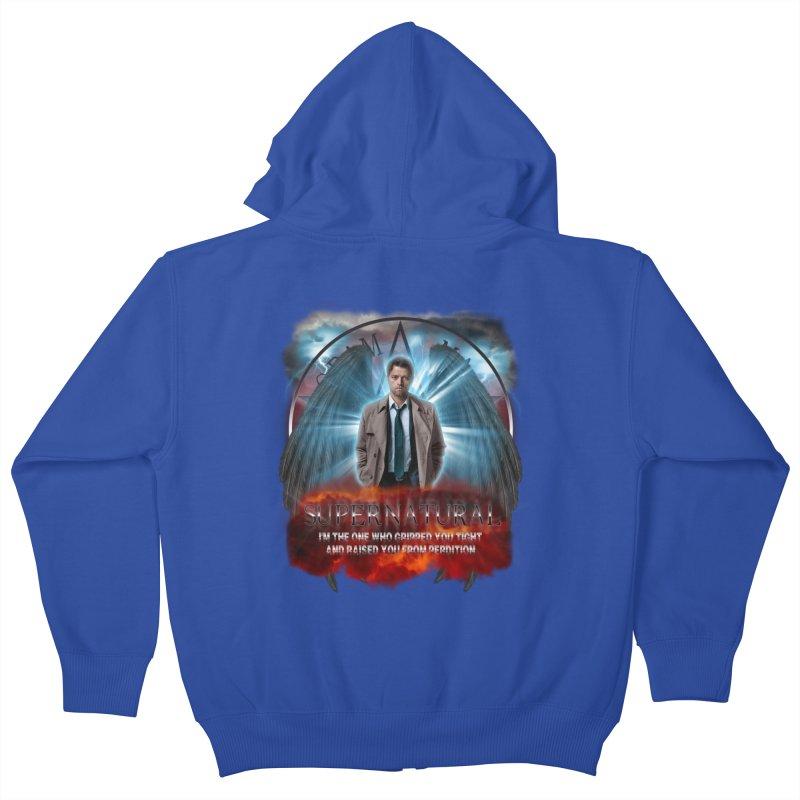 Supernatural Castiel  Kids Zip-Up Hoody by ratherkool's Artist Shop
