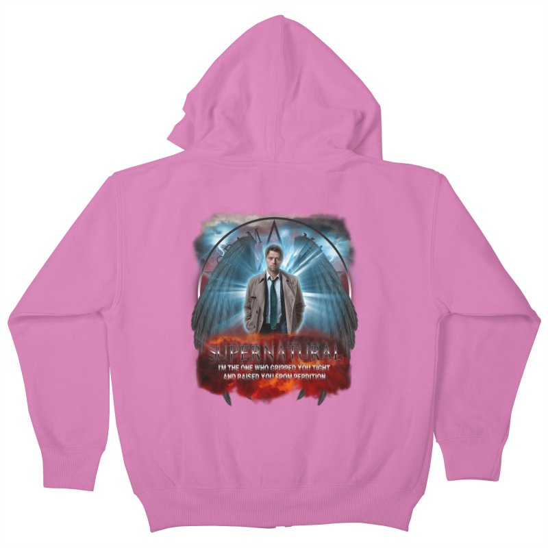 Supernatural Castiel  Kids Zip-Up Hoody by ratherkool's Artist Shop