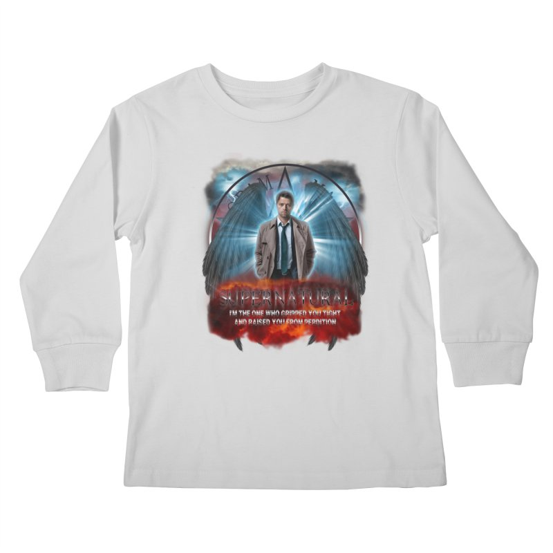 Supernatural Castiel  Kids Longsleeve T-Shirt by ratherkool's Artist Shop