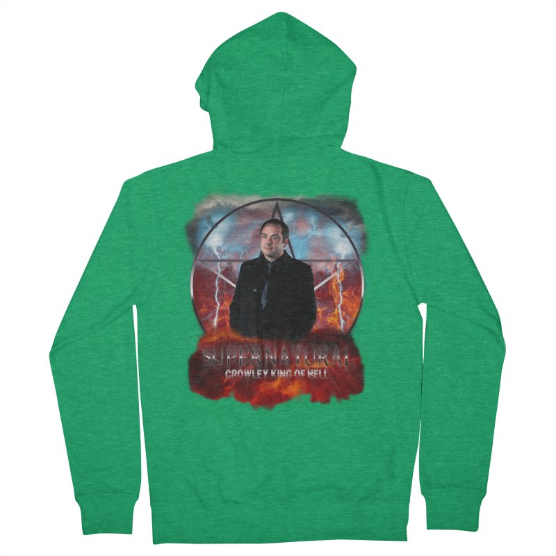 Supernatural Crowley King of Hell Women's Zip-Up Hoody by ratherkool's Artist Shop