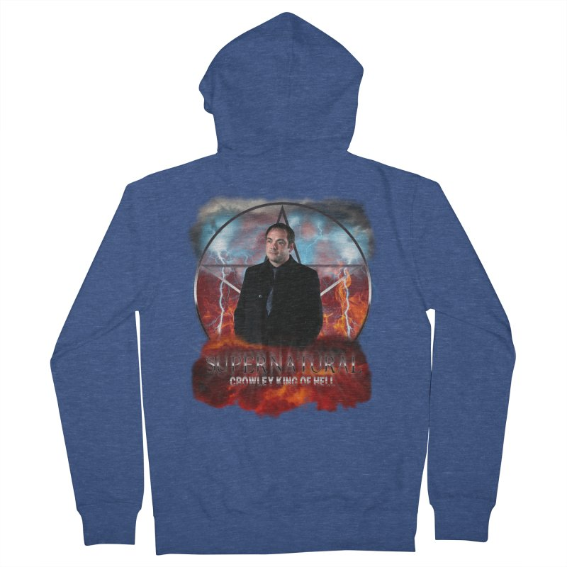 Supernatural Crowley King of Hell Men's Zip-Up Hoody by ratherkool's Artist Shop