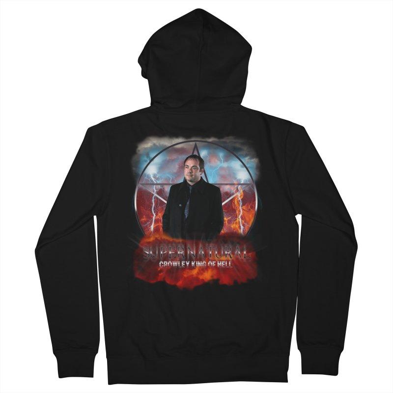 Supernatural Crowley King of Hell Men's Zip-Up Hoody by ratherkool's Artist Shop
