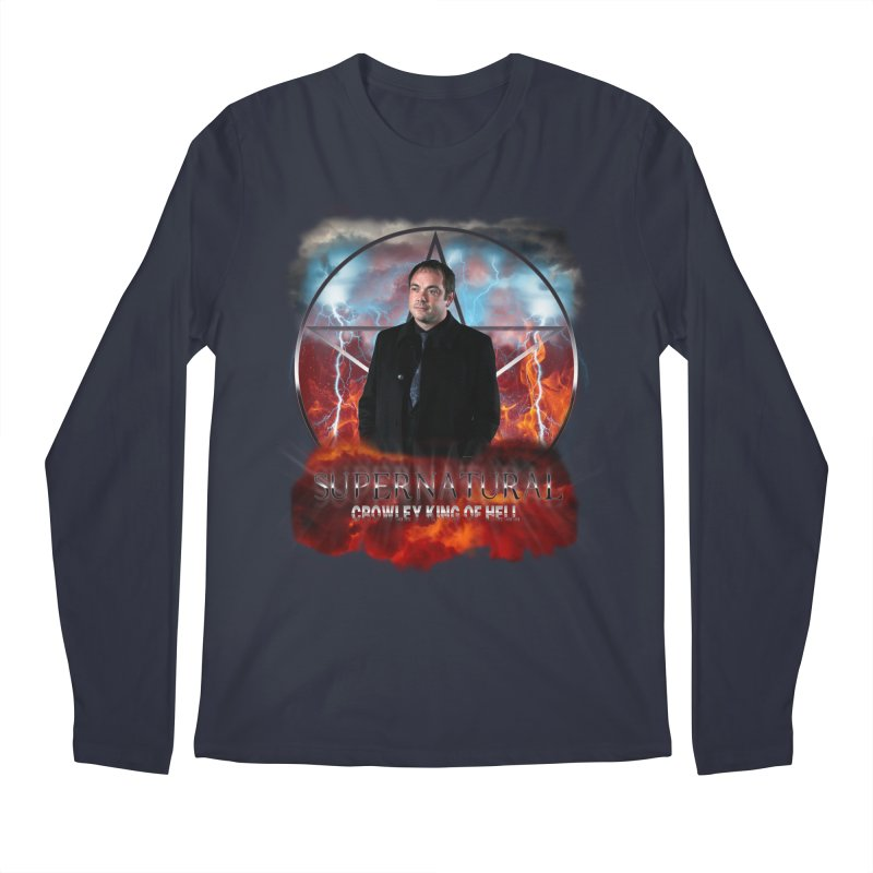 Supernatural Crowley King of Hell Men's Longsleeve T-Shirt by ratherkool's Artist Shop