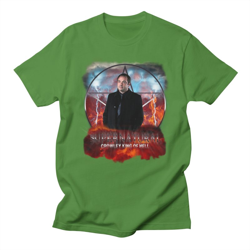 Supernatural Crowley King of Hell Men's T-shirt by ratherkool's Artist Shop
