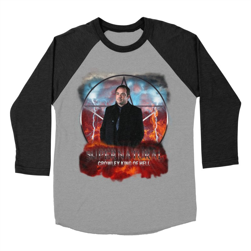 Supernatural Crowley King of Hell Women's Baseball Triblend T-Shirt by ratherkool's Artist Shop