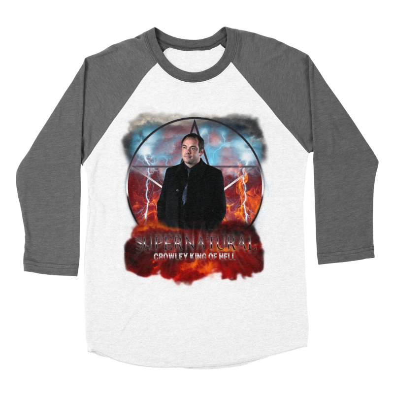 Supernatural Crowley King of Hell Men's Baseball Triblend T-Shirt by ratherkool's Artist Shop