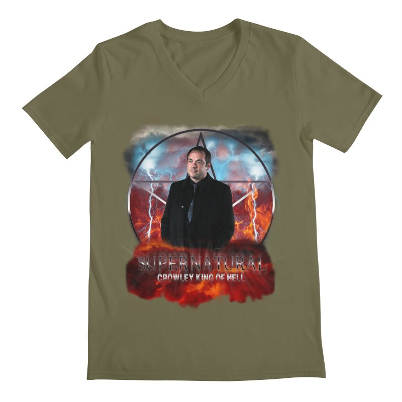Supernatural Crowley King of Hell Men's V-Neck by ratherkool's Artist Shop