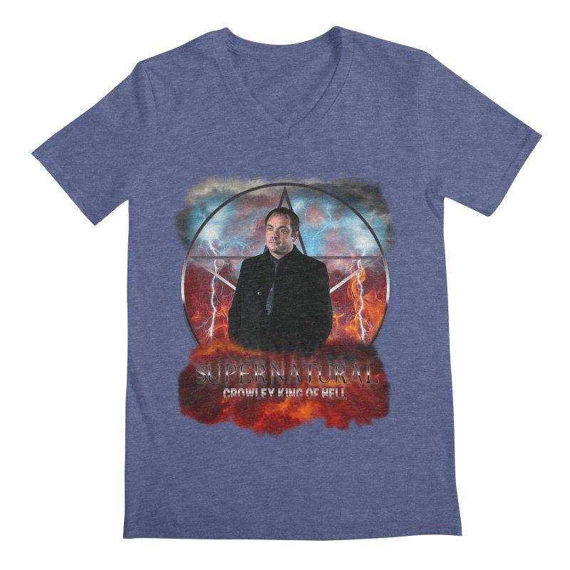Supernatural Crowley King of Hell Men's V-Neck by ratherkool's Artist Shop