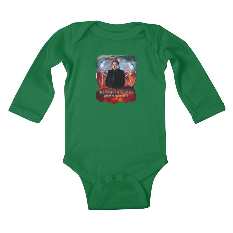 Supernatural Crowley King of Hell Kids Baby Longsleeve Bodysuit by ratherkool's Artist Shop
