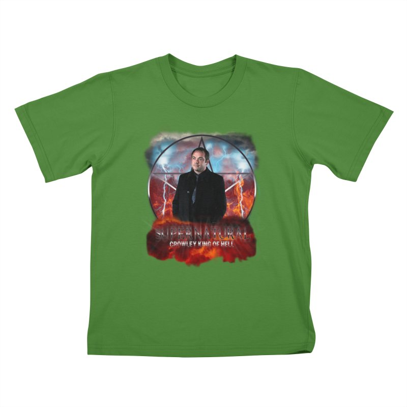 Supernatural Crowley King of Hell Kids T-shirt by ratherkool's Artist Shop