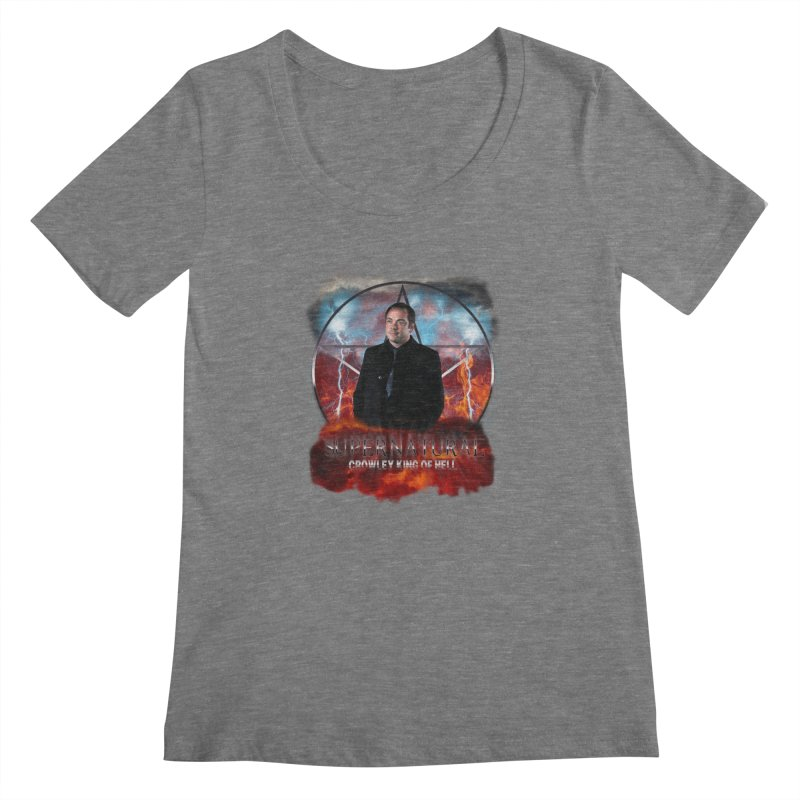 Supernatural Crowley King of Hell Women's Scoopneck by ratherkool's Artist Shop