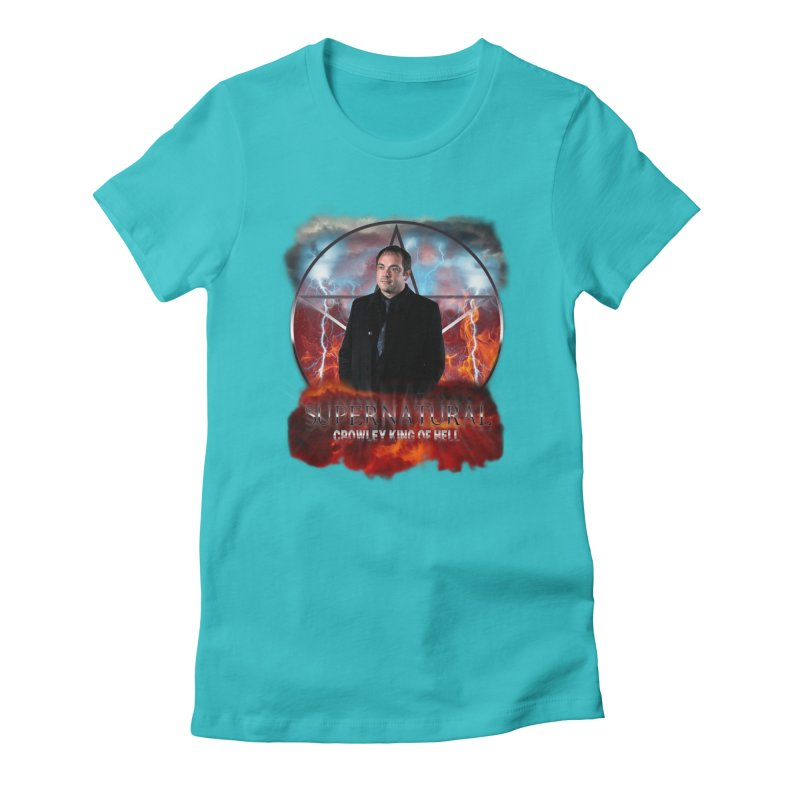 Supernatural Crowley King of Hell Women's Fitted T-Shirt by ratherkool's Artist Shop