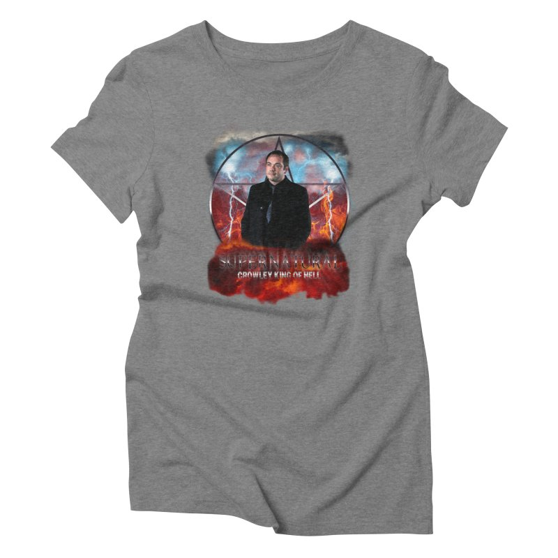 Supernatural Crowley King of Hell Women's Triblend T-shirt by ratherkool's Artist Shop