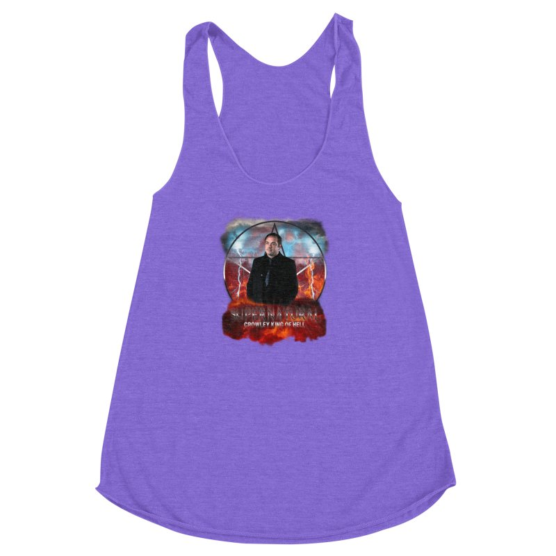 Supernatural Crowley King of Hell Women's Racerback Triblend Tank by ratherkool's Artist Shop