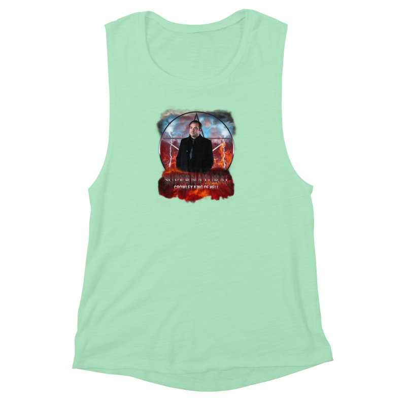 Supernatural Crowley King of Hell Women's Muscle Tank by ratherkool's Artist Shop