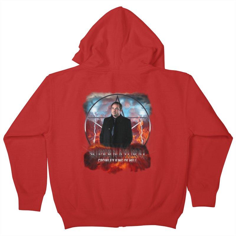 Supernatural Crowley King of Hell Kids Zip-Up Hoody by ratherkool's Artist Shop