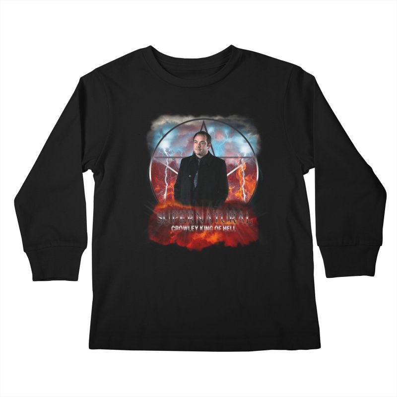 Supernatural Crowley King of Hell Kids Longsleeve T-Shirt by ratherkool's Artist Shop