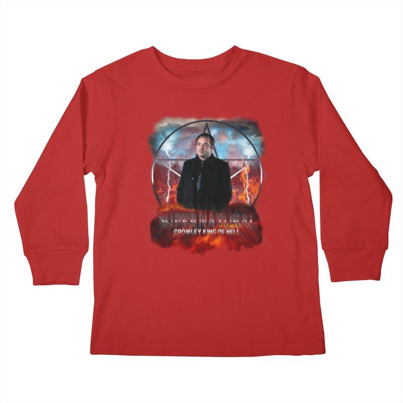 Supernatural Crowley King of Hell Kids Longsleeve T-Shirt by ratherkool's Artist Shop
