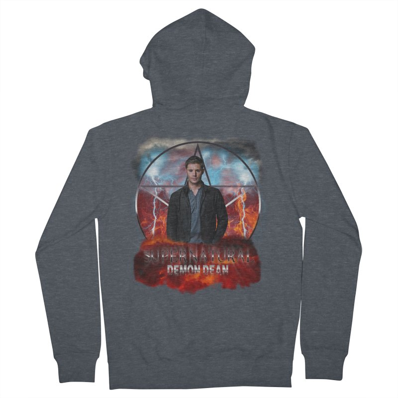 Supernatural Demon Dean Threadless Men's Zip-Up Hoody by ratherkool's Artist Shop