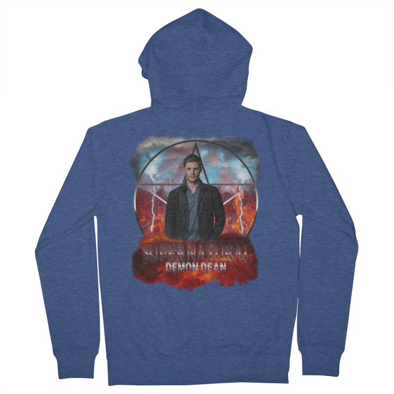 Supernatural Demon Dean Threadless Men's Zip-Up Hoody by ratherkool's Artist Shop