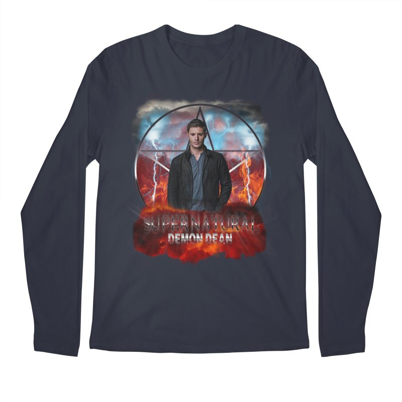 Supernatural Demon Dean Threadless Men's Longsleeve T-Shirt by ratherkool's Artist Shop